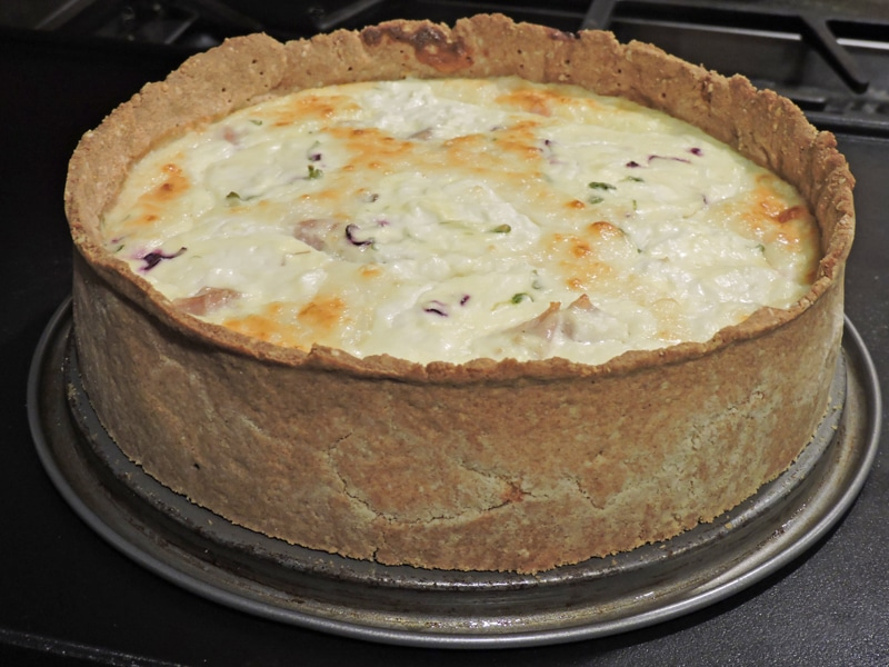 ham and goat cheese pie